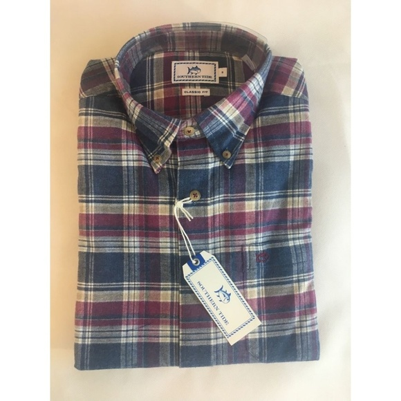 2a3ab3fdcb Southern Tide Mens Small Shirt Flannel Button Down